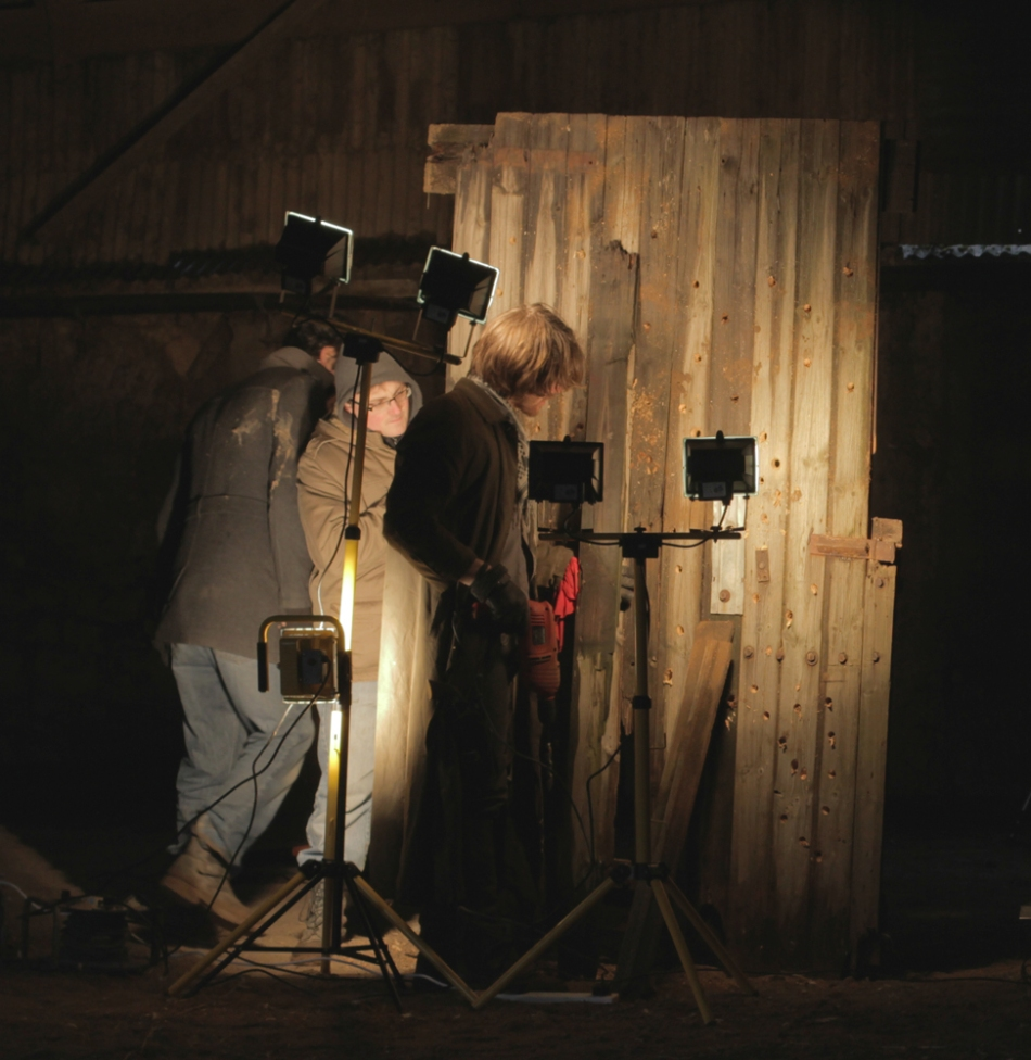 I'll admit, it's not quite a wall, but the barn door did an excellent job of playing the role, great acting.